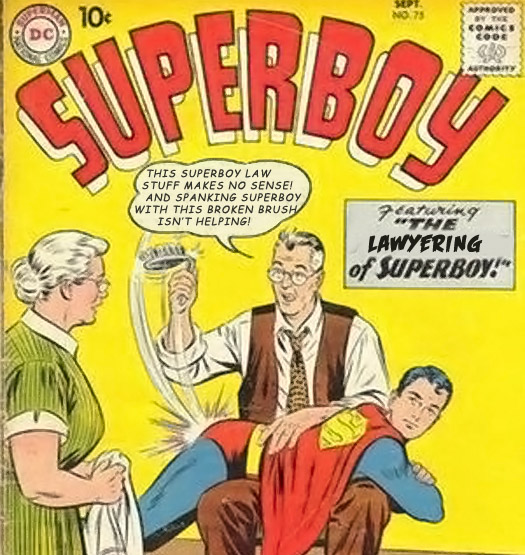This had to be the most disturbing superboy cover I could find. Although I maybe I didn't try hard enough