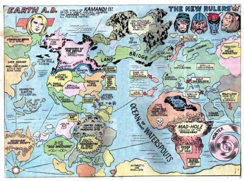 Earth A.D.: A Map of the World of Kamandi!